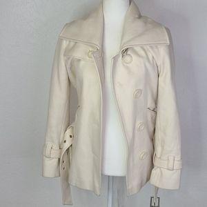 Vintage Modano International white wool coat small
